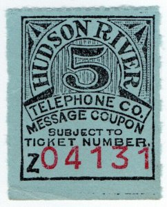 (I.B) USA Telegraphs : Hudson River Telephone Co 5c