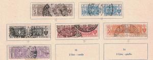 Italy Q7 - Q12 - Parcel Post. Set Of 6. Used.    #02 ITALQ7s6