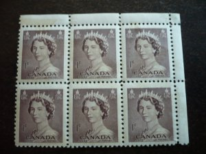Canada - Mint Block of 6 - QEII - Karsh Portrait