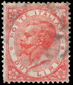 Italy 1863 Sc 33 used vg-f