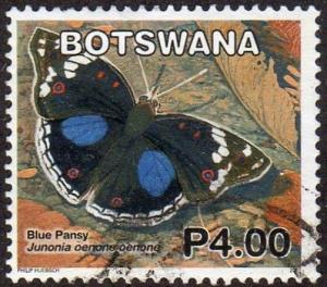 Botswana 853 - Used - 4p Blue Pansy Butterfly (2007) (cv $1.90)