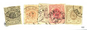 LUXEMBOURG #14 17 19-21 USED FVF Cat $42