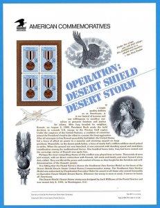 USPS COMMEMORATIVE PANEL #367 DESERT STORM/SHIELD #2551