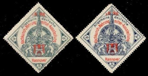 Germany 1898 Hannover Cooking/Food Expo Poster Stamps