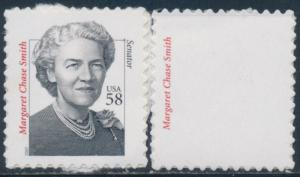#3427b MARGARET CHASE SMITH BLACK (ENGRAVED) OMITTED ERROR BS8008