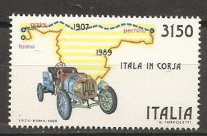 Italy 1763 1989 Paris-Peking Rally NH