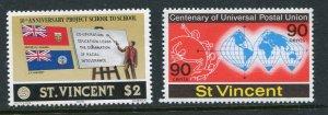 St. Vincent MNH 535-6 UPU