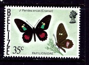 Belize 355A MH 1977 Butterflies