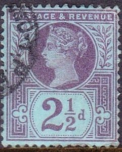 GREAT BRITAIN 1887 QV 2.5d Purple/Blue SG201 Used