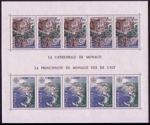 Monaco Cathedral Monuments European Views MS SG#MS1347 MI#1319-1320