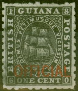 British Guiana 1875 1c Black SG01 Fine Used
