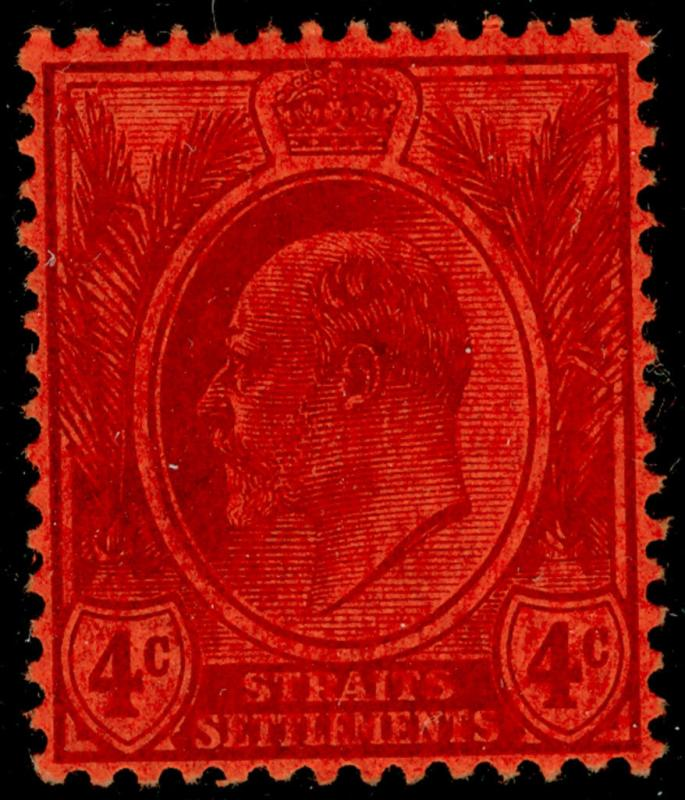 MALAYSIA - Straits Settlements SG129, 4c purple/red, LH MINT. Cat £26.