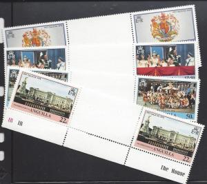 Anguilla, 315-18, Coronation 1978 Gutter Pairs,**MNH**