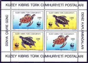 Turkish Cyprus. 1992. bl11. Sea turtles. MNH.