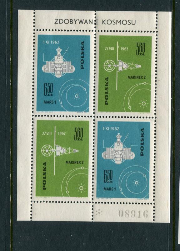 Poland #1186-7 S/S MNH footnoted