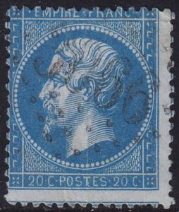 France - 1862 - #26 - used - Gros Chiffres #3066 Quimper