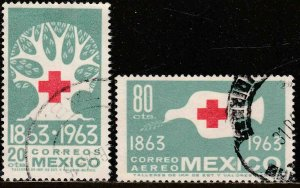 MEXICO 938, C277, Centenary of the International Red Cross USED. VF. (1144)