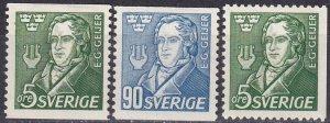Sweden #383-5  F-VF Unused  CV $5.55 (Z5303)