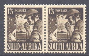 South Africa Scott 89 - SG94a, 1941 War Effort 1/3d Pair MH*