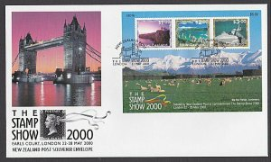 NEW ZEALAND 2000 Stamp Show London mini sheet on FDC........................L520
