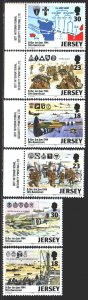 Jersey. 1994. 654-59. The landing of the Allied forces in France. MNH.