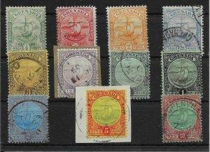 GRENADA SG77/88 1906-11 DEFINITIVE SET OF 11 USED