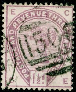 SG188, 1½d lilac, USED. Cat £42. CE