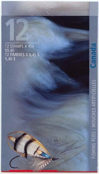 Canada - 1998 Fishing Flies Complete Booklet #BK207a Sealed Cover