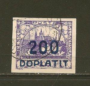 Czechoslovakia J19 Postage Due Imperforated Used