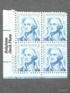 #1283B Washington Matched Set of 4 Plate Blocks 29357 F-VF N