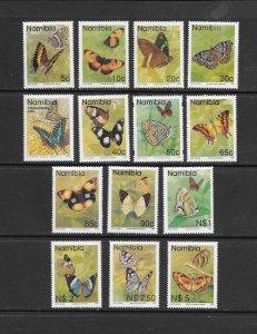 BUTTERFLIES - NAMIBIA #742-54  MNH