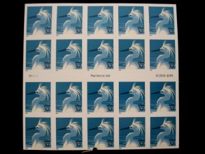 US - SCOTT# 3830a - BOOKLET PANE 20 - MNH- CAT VAL $15.00 (_4)