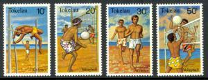 TOKELAU 1981 BEACH SPORTS Set Sc 77-80 MNH