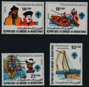 Mauritania 495-8 MNH Scouting Year, Boat