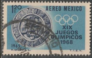 MEXICO C310, $1.20 1st Pre-Olympic Issue - 1965 Used (39)