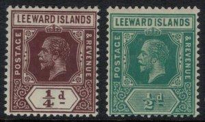 Leeward Islands #46-7*  CV $7.80
