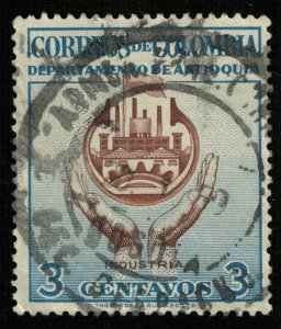 Colombia, 3 centavos, Industria (Т-6541)