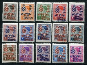 CROATIA GERMAN PUPPET STATE VERY RARE 1941 WEHRMACHT SET MNH PLEASE READ