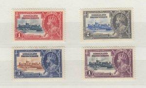 Somaliland KGV 1935 Silver Jubilee Set SG86/89 MH JK886