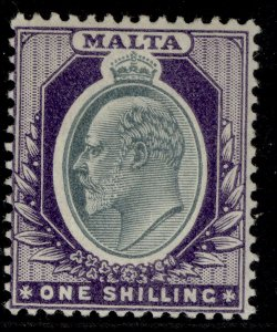MALTA EDVII SG44, 1s grey & violet, M MINT. Cat £35.