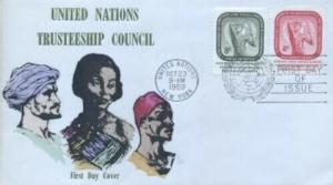 UN #73/74 - TRUSTEESHIP COUNCIL FDC - Overseas Mailers