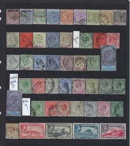 GIBRALTAR SMALL QUALITY COLLECTION (46 STAMPS) SCOTT #3-84- USED