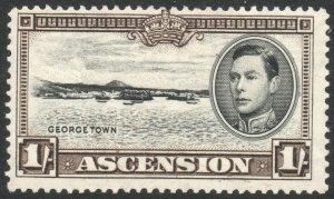 ASCENSION-1938-53 1/- Black & Sepia Perf 13½ Sg 44 AVERAGE MOUNTED MINT V38050