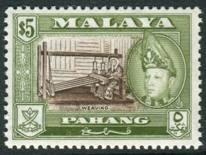 PAHANG-1962 4% Brown & Yellow Olive Perf 13x12½.  An unmounted mint Sg 88b
