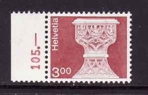 D4-Switzerland-Sc#578-unused NH-Font, St. Maurice church-197