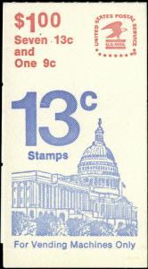 US Scott #BK132 Complete Booklet of 1 Pane of #1623c