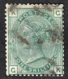 Great Britain Scott 64a plate 8  F+  used.