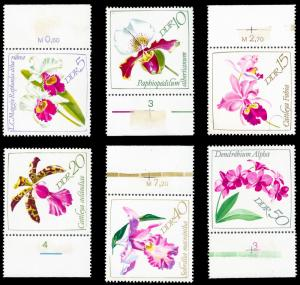 Germany DDR 1968 Sc 1057-62  MNH Orchid Show