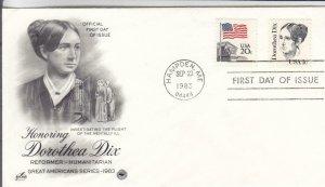 1983, Honoring Dorothea Dix, Artcraft/PCS, FDC (E8213)
