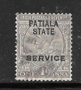 India Convention States Patiala #O38 Used Single